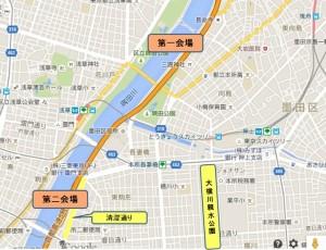 隅田川花火マップ